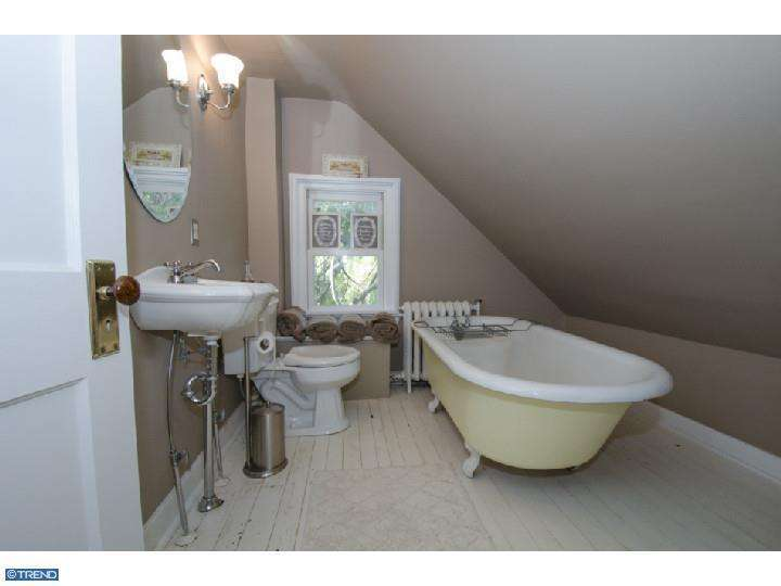 old outdated attic bathroom