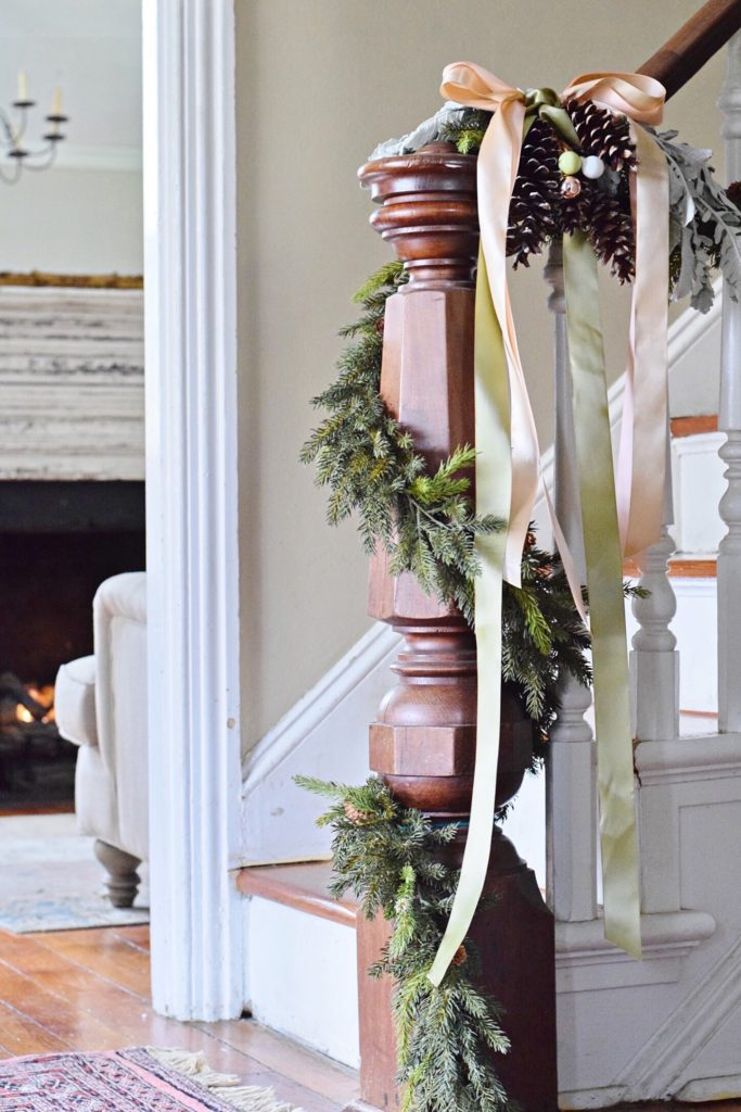 Rose gold vintage glam christmas home tour wynn roo for White house fall garden tour 2017